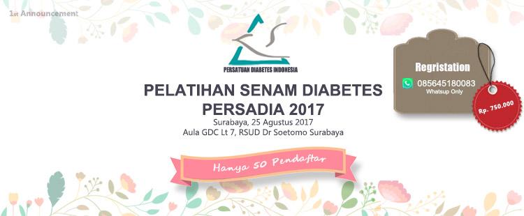 Pelatihan senam diabetes PERSADIA 2017 terupdate